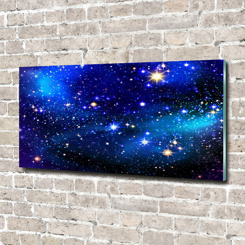 Wandbild aus Plexiglas® Druck auf Acryl 140x70 Weltall Sternenhimmel
