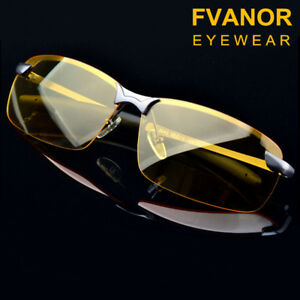 9f864554b6 Image is loading Sunglasses-Men-Frameless-Night-Vision-Polarized-Uv400- Driving-