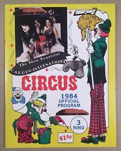 1984-CARDEN-INTERNATIONAL-SHRINER-CIRCUS-Official-Program-Book