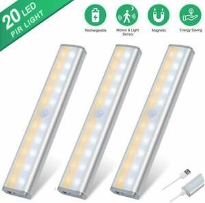 USB-Rechargeable-PIR-Motion-Sensor-20-LED-Wireless-Wardrobe-Cupboard-Night-Light