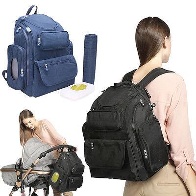 Fashion Diaper Bag Mummy Women Backapack Rucksack Baby Stroller Hanging Bag Pack