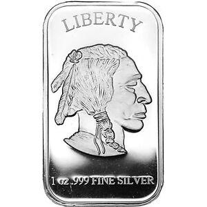 American Buffalo 1oz 999 Fine Silver Bar By Silvertowne