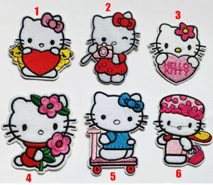 Hello Kitty Cat Marie Patch Badge Iron On Sew On