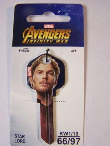 Star Lord Marvel Avengers kwikset KW1//KW10 house key blank