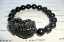 Feng Shui - Black Obsidian Pi Yao Bracelet (12mm beads)
