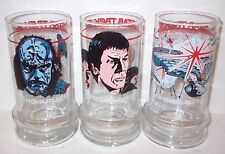Star Trek Glasses LOT Taco Bell 1984 (2) Kruge (2) Enterprise (3)Spock Lives = 7