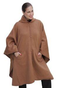 Camel Poncho Lined Alpaca Hood Hooded Uld 81159499754 Cape wnXYTnUaxq