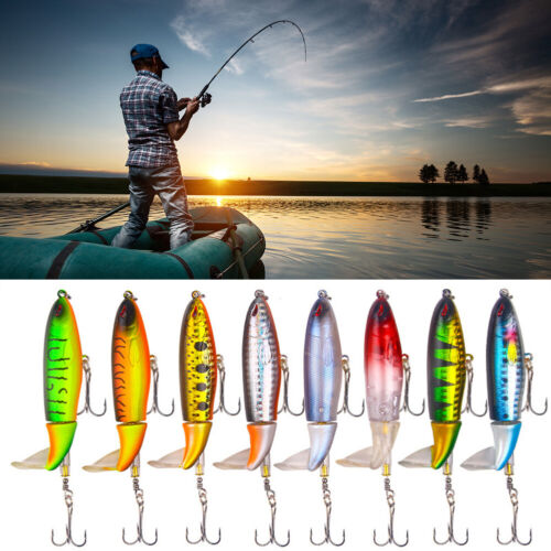 Lure Fishing 10cm Crankbait Tractor Propeller Float Tackle With Hook Bait