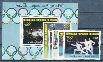 226312) Kongo Braz. Nr.946-50+bl.35** Olympiade Reichhaltiges Angebot Und Schnelle Lieferung