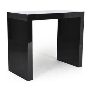 Tavolo consolle allungabile fino a 3 mt nero lucido laccato 14 posti ...