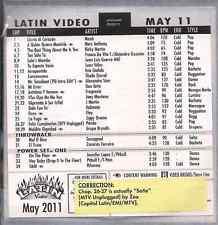 Promo only LATIN video MAY 2011 MARC ANTHONY Juan Velez SHAILA DURCAL Mana ELOY