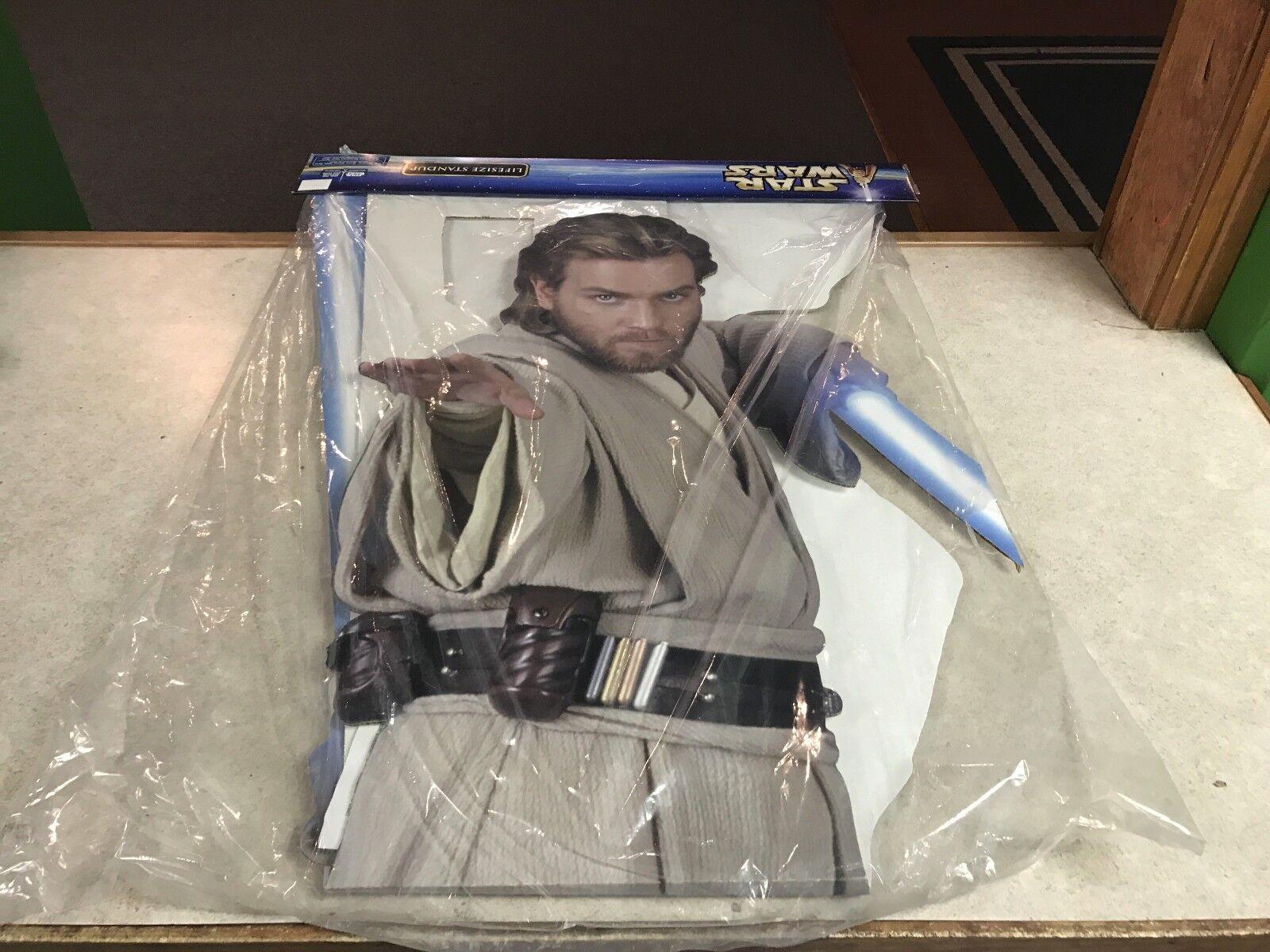 perfecto Estrella Wars Ataque De Los Clones Obi-Wan Kenobi Cochetón tamaño tamaño tamaño natural Stand Up Nuevo  gran descuento