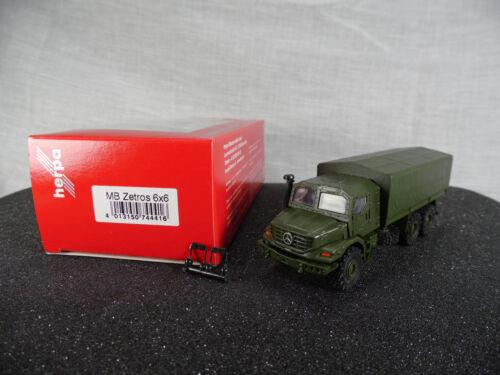 Ht324 Herpa 744416 mercedes-benz Zetros 6x6 blindaje armo.//Military//producto nuevo