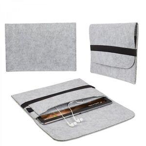 Tasche-fuer-Apple-Macbook-Air-11-034-Zoll-Schutz-Huelle-Case-Zubehoer-Filz-Hell-Grau