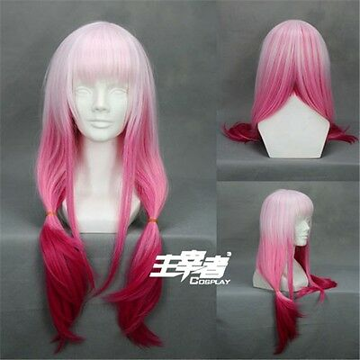 Guilty Crown Inori Yuzuriha Gradient Anime Cosplay Costume Wig + Free CAP +Track