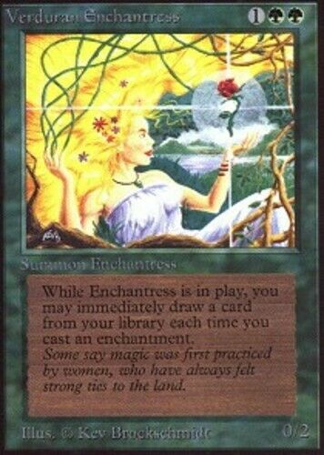 1 x MTG Verduran Enchantress Unlimited Edition - Slightly Played, English