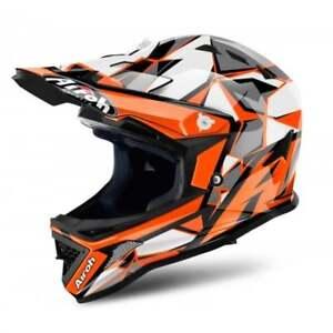 Airoh-Enfants-Jeunesse-Archer-Junior-Majeur-Motocross-MX-Enduro-Casque-Orange