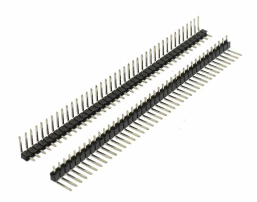 10 x 40 Pin Right Angle Male Single Row Strip 2.54mm Pin Header Connector 0.1/&qu