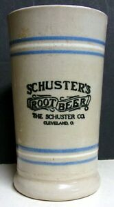 1920's Schuster's Root Beer Stoneware Mug - Cleveland, OH