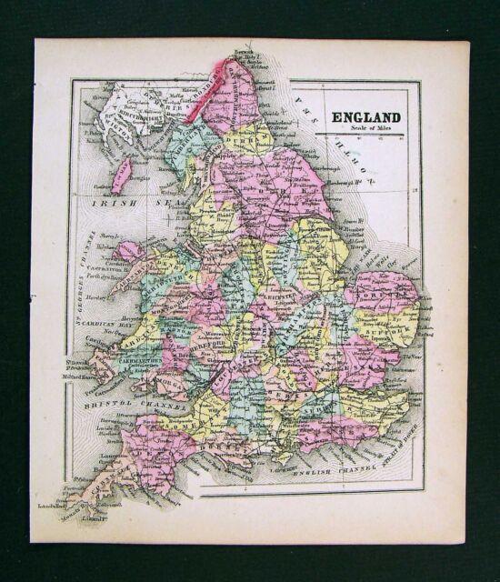 1857 Morse Map England London Liverpool Oxford Bristol Cornwall