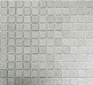 Dettagli su Mosaico piastrella vetro argento luccichio muro cucina bagno:  60-0207_b|1 foglio