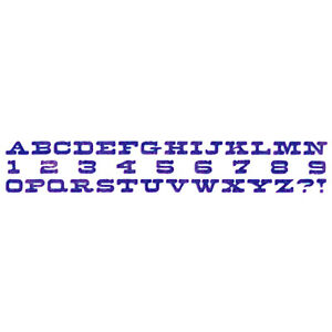 CUTTING DIES 1 MATRICE DECOUPE SIZZLITS ALPHABET CHIFFRES LOISIRS CREATIFS 9427