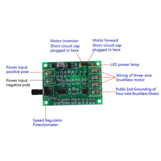5V-12V DC Brushless Motor Driver Board Controller for Hard drive motor 3//4 wire