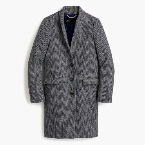 Size Navy Blend 8~ Standing 365 Jcrew Wool Collar Oversize Donegal Nwt Topcoat wx0zqOO