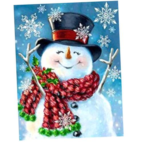 Full Drill Special Style Snowman Craft DIY 5D Full Diamond Painting Kits
