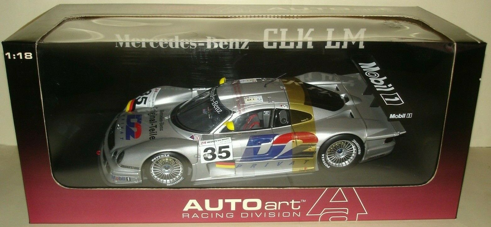 Autoart 1 18 MERCEDES CLK-LM GT1 Le Mans 1998  35 Mark WEBBER NOUVEAU extrêmement rare