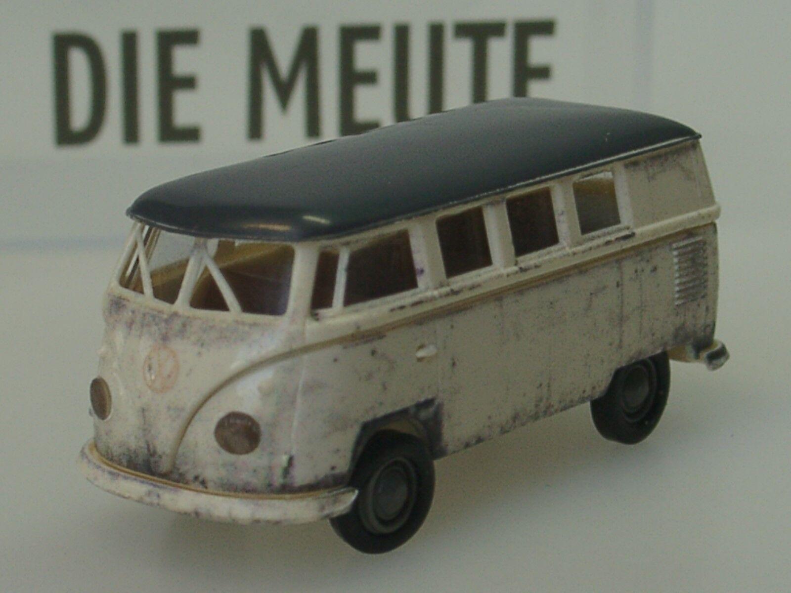 Brekina VW T1 Bus  DIE MEUTE , mit AHK und Einleger - lim.100 - 1 87