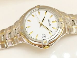 SEIKO-MEN-039-S-SGE510-RETRO-NON-WORKING-SAMPLE-QUARTZ-ANALOG-WATCH-7N42-6C00