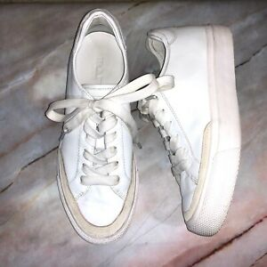 Rag-amp-Bone-Women-039-s-Size-38-US-8-Army-Low-Leather-Sneakers-White