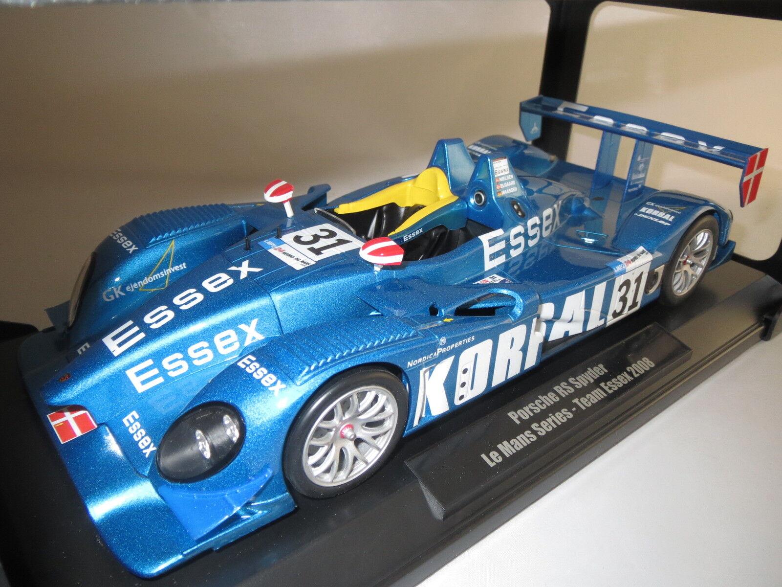 NOREV porsche rs spyder lmp2-24 Leber tu Mans team Essex  2008  1 18 OVP