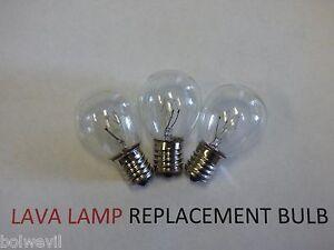 3 X 25w Lava Lamp Light Bulb S Type E17 Base 25 Watt S11 25s11 25s11n S11n25