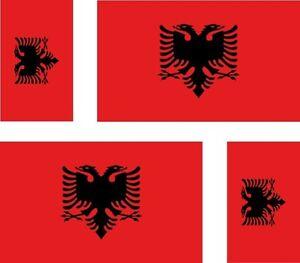 4-x-Aufkleber-Auto-Sticker-tuning-motorrad-Autoaufkleber-Fahne-Flagge-albanien