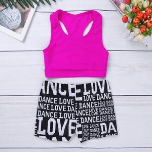 Girls-Ballet-Gymnastics-Leotard-Kids-Dance-Wear-Dress-Bodysuit-Unitard-Jumpsuit