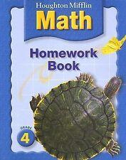 Houghton Mifflin Mathematics: Homework Book Consumable, Level 4 by HOUGHTON MIF