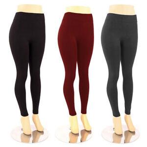 Women-039-s-Plus-Size-Fleece-Lined-Leggings-Warm-Winter