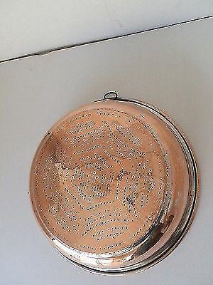 antico SCOLAPASTA IN RAME Taverna LUCIDO anello ottone stagnato arredo Taverna RAME 53fa79