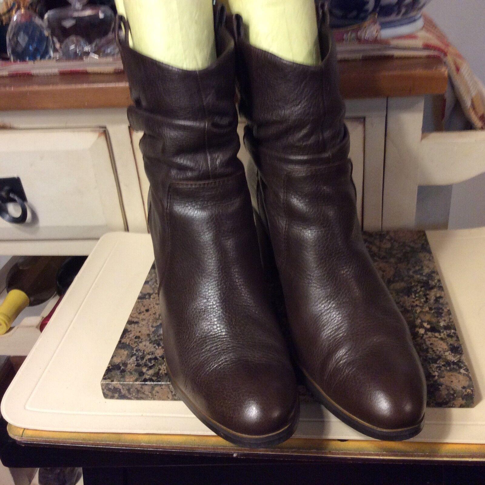 Circa Joan & David KIRSTIN Women's Brown Leather Ankle Boots 9.5
