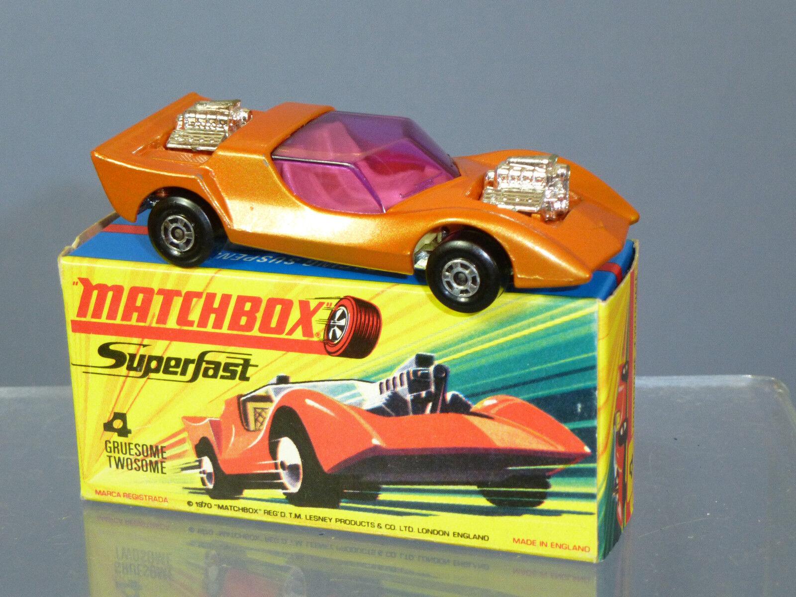 Matchbox súperfast Modelo No.4e  macabra pareja  MIB