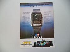 advertising Pubblicità 1979 OROLOGIO TISSOT F1 CRONOMETRO SVEGLIA