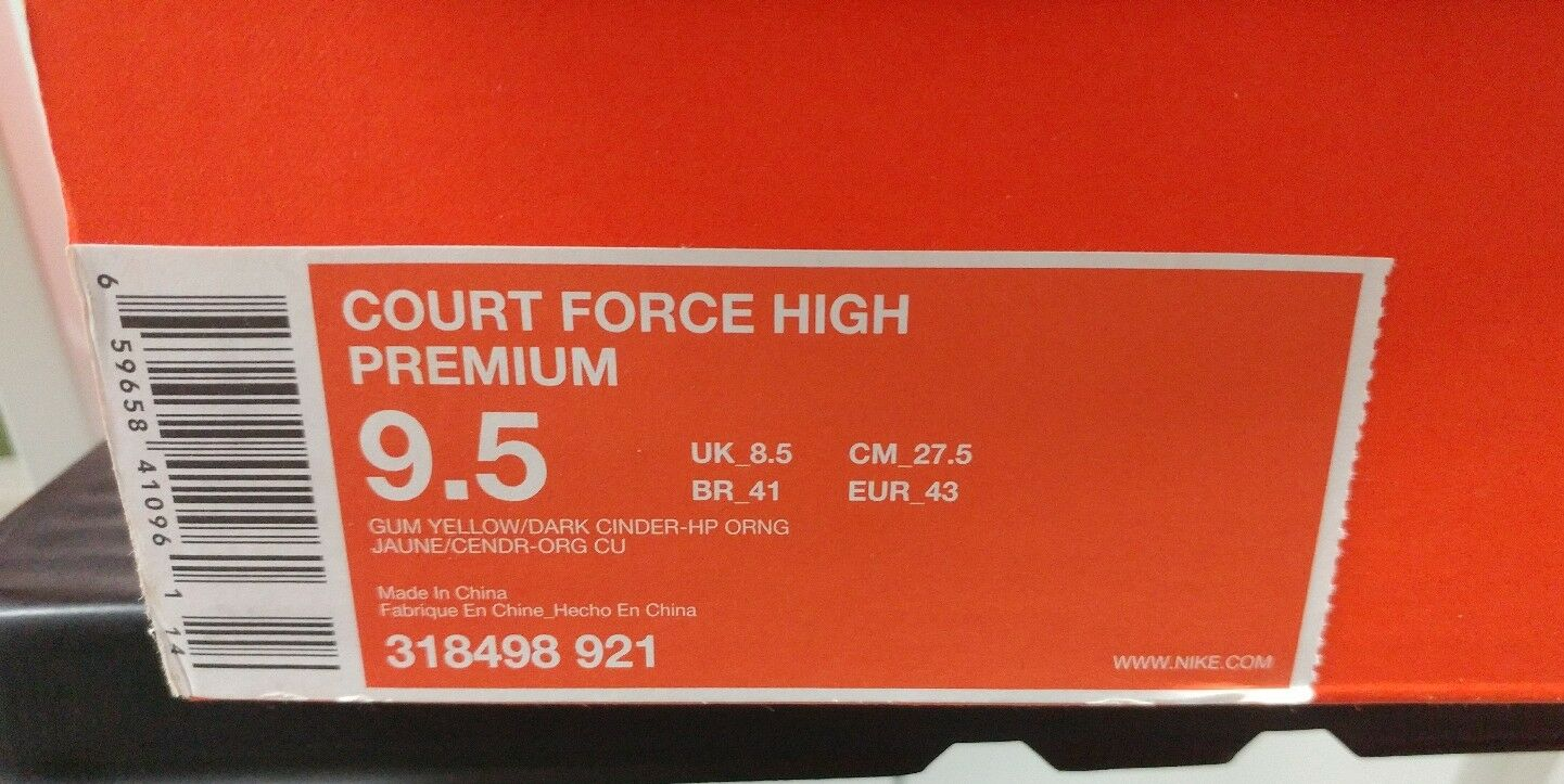 DS NIB Nike Court Force High Premium Ryo the Skwalker 9.5 318498 921