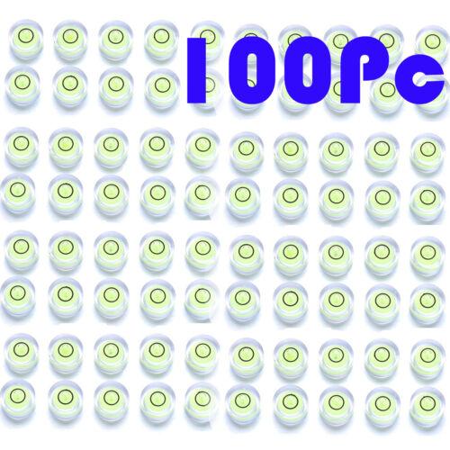 100x 14mm*8mm Spirit Niveau à bulle Degré Mark Measuring Ronde Circulaire Niveau