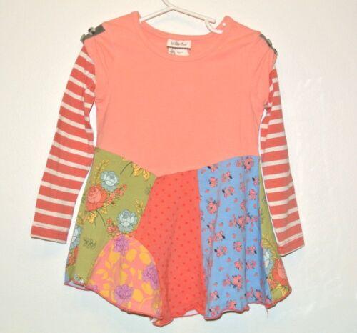 Matilda Jane Secret Fields Patchwork Angled Tee Top Size 8 NEW tunic years girl