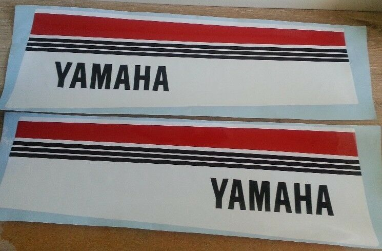Set off 1980's Yamaha motor cowl side decals stickers graphics
