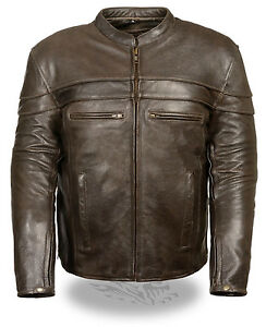 Mens-Retro-Brown-Leather-Vented-Sporty-Scooter-Crossover-Jacket-with-Gun-Pockets