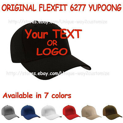 e25aa4c5e Personalized Custom make fitted cap Quality Stitching Yupoong Flexfit 6277  | eBay