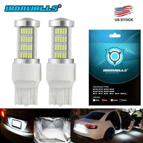 2x Super Bright White LED 7443 5730 100W Turn Reverse Backup Light Bulbs Parking